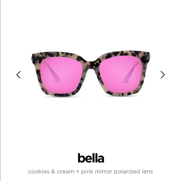 b899ad7c3f Diff Eyewear Accessories - Diff Bella Cookies and Cream with Pink Mirror  Lens
